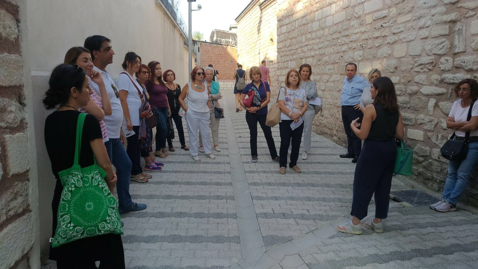 Artwalk group gathered in the garden of Küçük Mustafa Paşa Hamamı in old İstanbul to explore 15th İstanbul Biennial